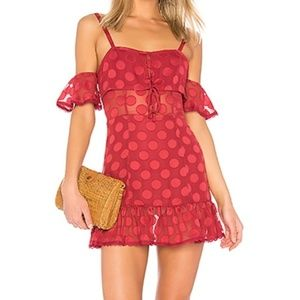Tularosa Cranberry  Dress